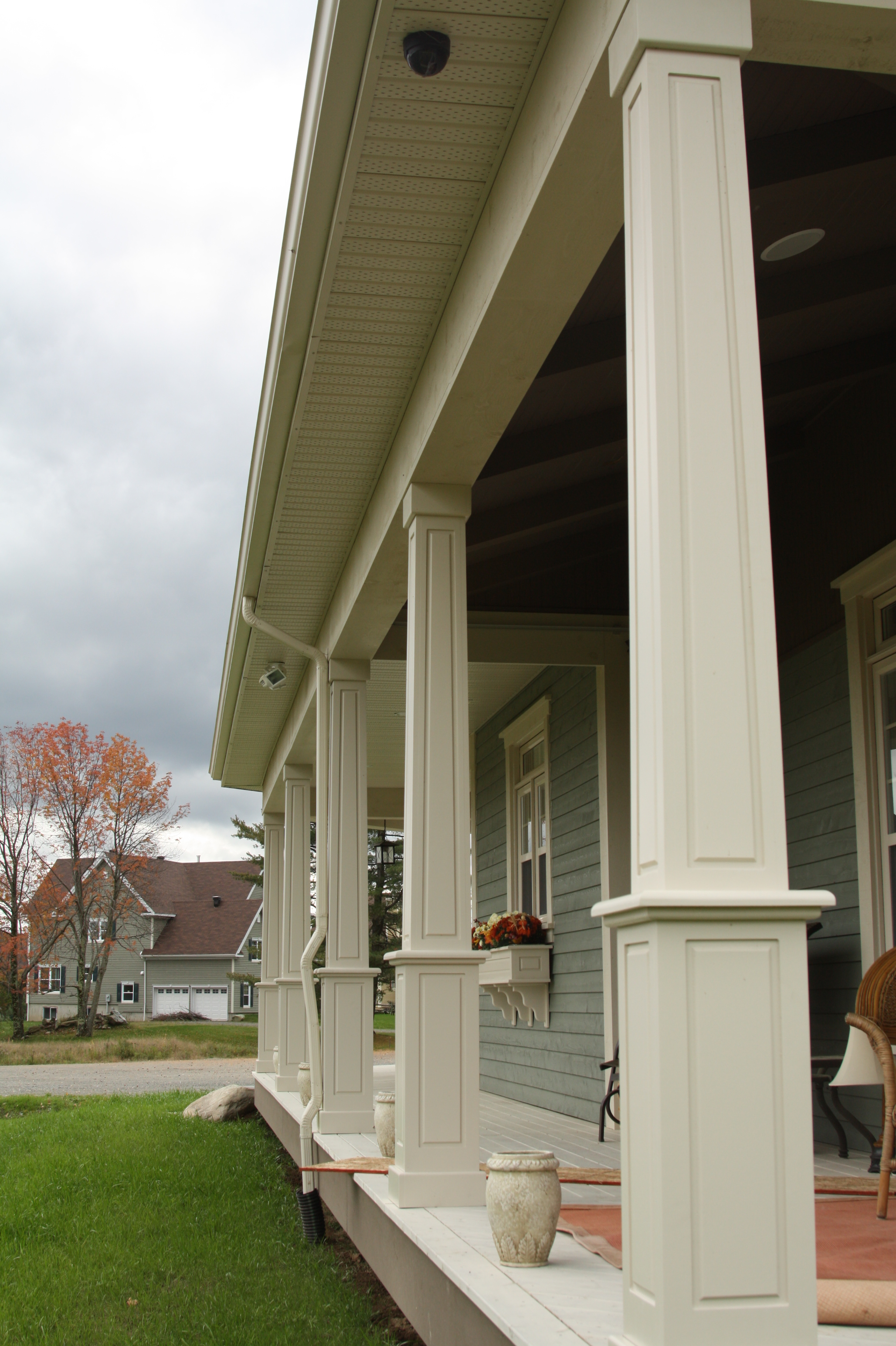 vinyl columns photo llc railing railings installed aluminum for porches wholesale post fence and at rochester porch