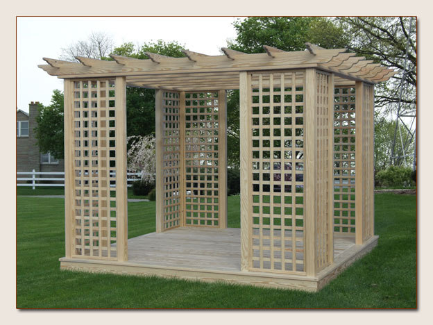 Lattice Pergola - Missisquoi Cupolasstuff