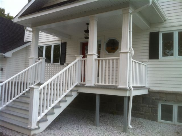 Integrated columns, posts and railings