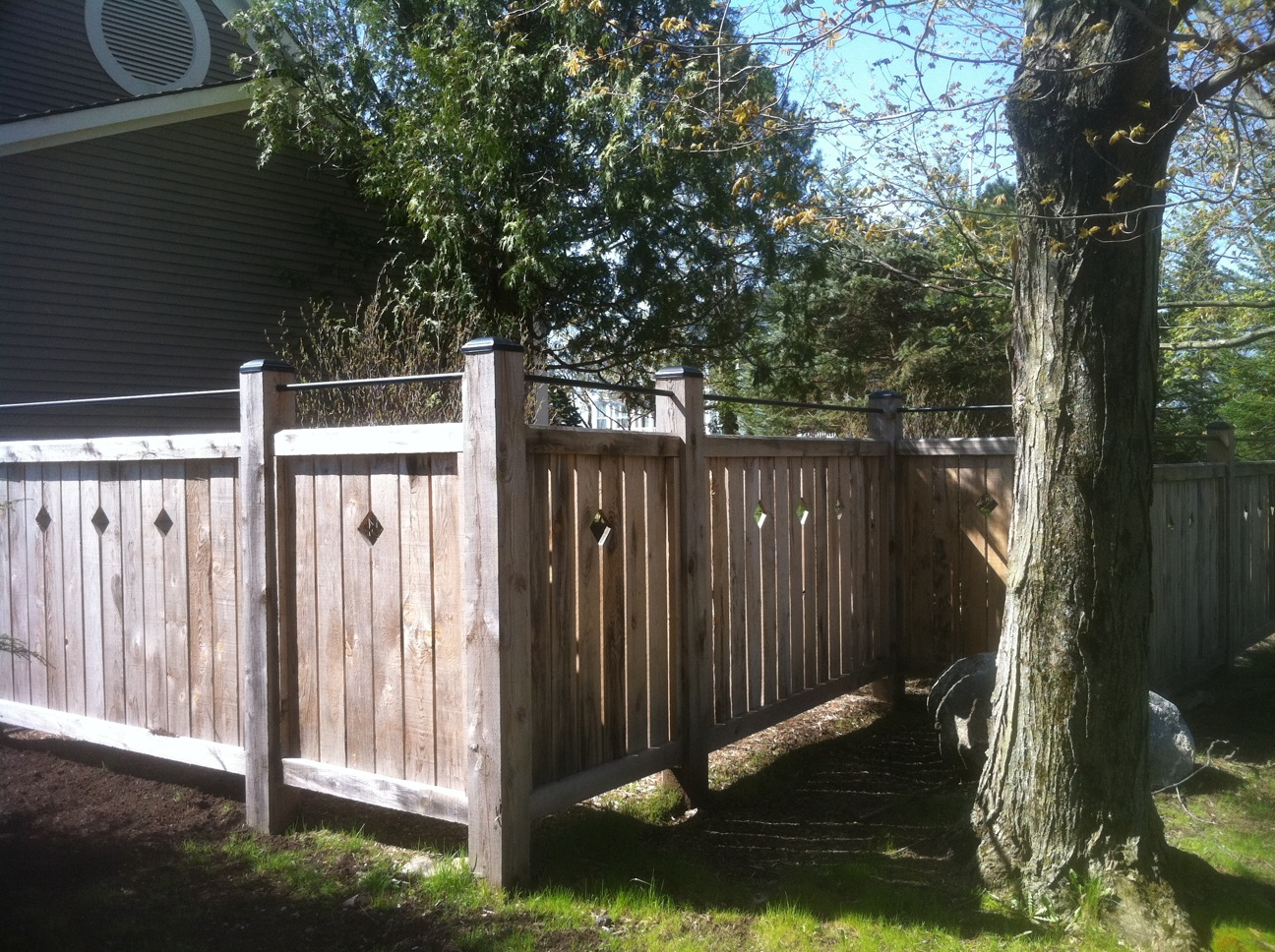 Custom Hemlock Fence