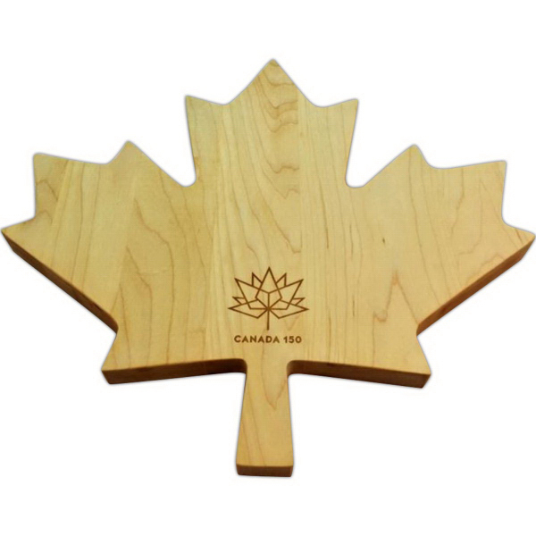 Maple leaf custom cutting board missisquoi cupolas