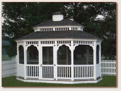 Several variations of the Oval Gazebo